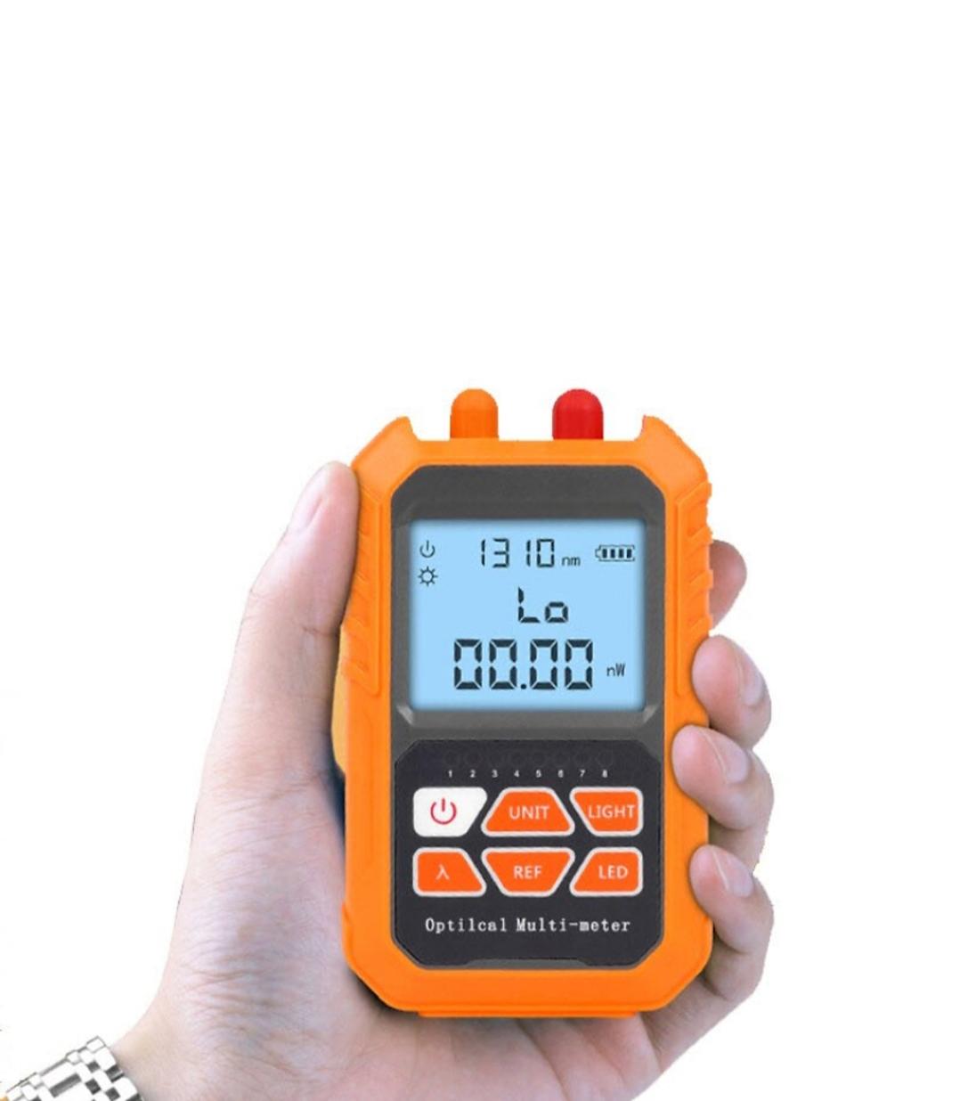 Bộ Dụng Cụ Kiểm Định Mạng Đa Năng 3 Trong 1 Sử Dụng Pin Sạc 600mAh - Máy Đo Công Suất Quang Bước Sóng Từ 800 - 1700nm - Bút Dò Lỗi Sợi Quang VFL 5Km Ánh Sáng Đỏ - Đầu Test Cáp Mạng RJ45 - Tích Hợp Đèn Led