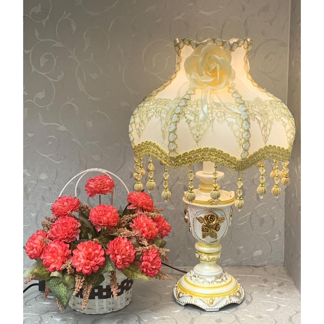 Đèn ngủ để bàn tân cổ điển - đèn bàn trang trí phòng ngủ cao cấp MB5998