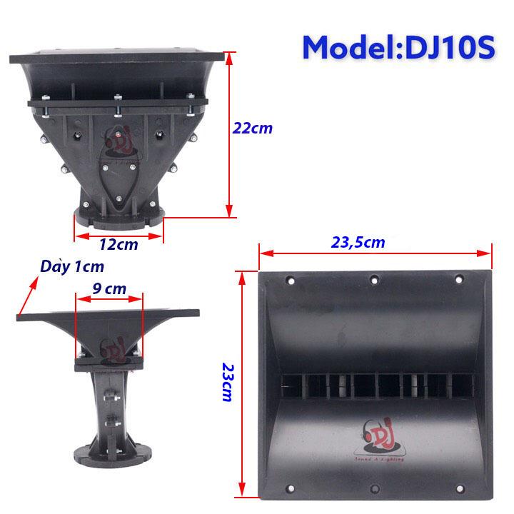 họng loa array, phểu loa 01 cái họng loa nhựa 23X23, phểu loa trep, hong loa array, hong loa trep 750, loa treb array