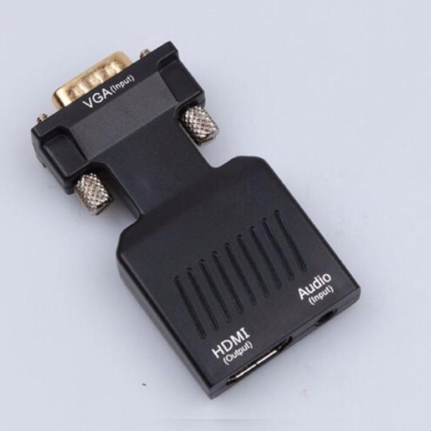 Bộ Chuyển Đổi Vga Sang HDMI Có Audio - Tặng Dây HDMI 1.5m ( Vga To HDMI Full HD 1080 )