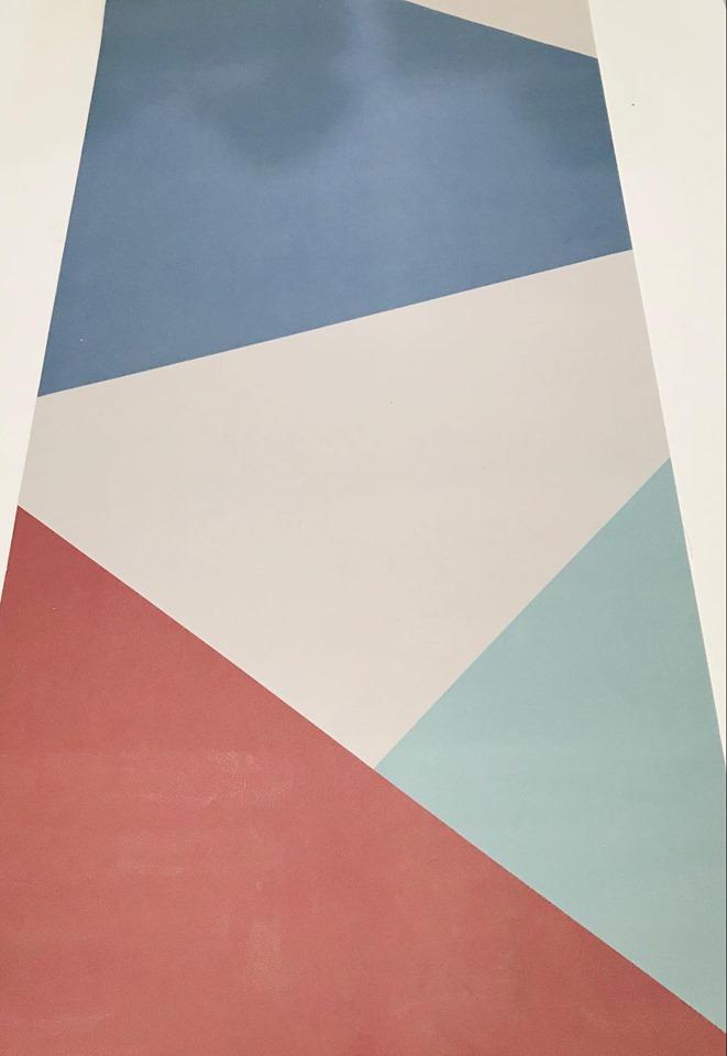 Thảm da trải bàn làm việc màu hoạ tiết kẻ size 40x80 cm