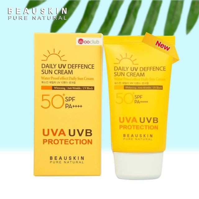Kem chống nắng kiểm soát dầu Beauskin Daily Defense Sun Cream Hàn Quốc 50ml tặng kèm móc khoá