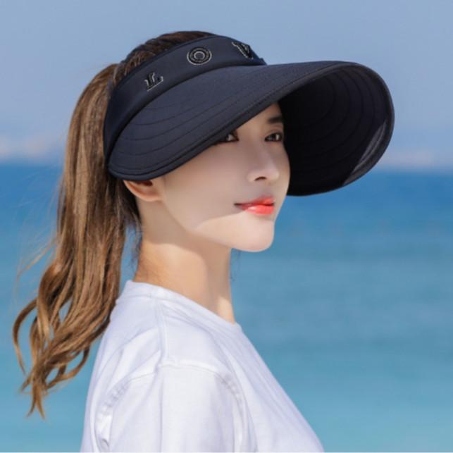 mũ rộng vành chống nắng nửa đầu phong cách Hàn, nón nửa đầu rộng vành thời trang