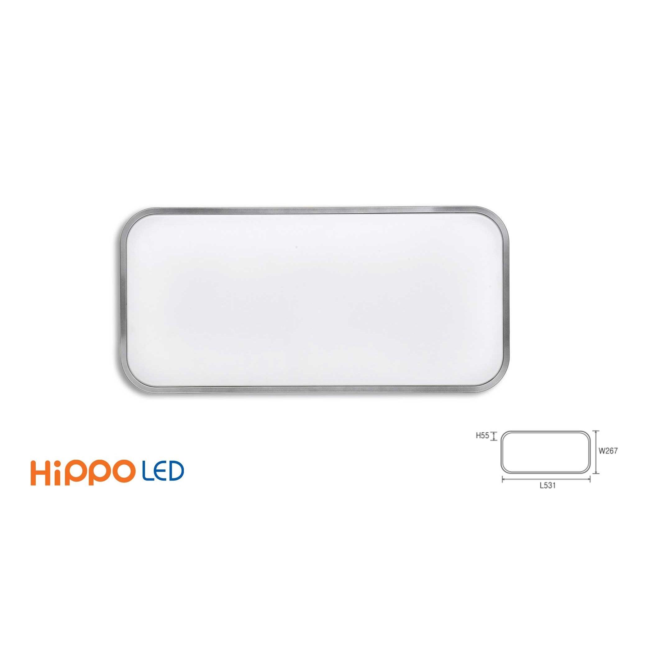 Đèn Led Tấm Ốp Trần Hippo Hàn Quốc Chữ Nhật DLR-228 (25W) - Ánh sáng trắng  - Đèn trần Thương hiệu Hippo LED