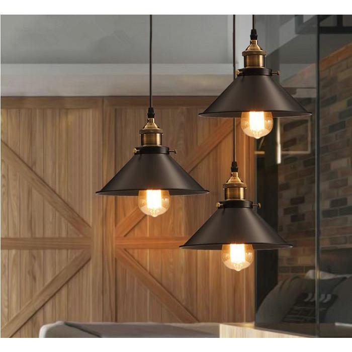 Bộ 3 đèn thả trần trang trí hình nón lá, đèn thả bàn ăn hàng chính hãng.