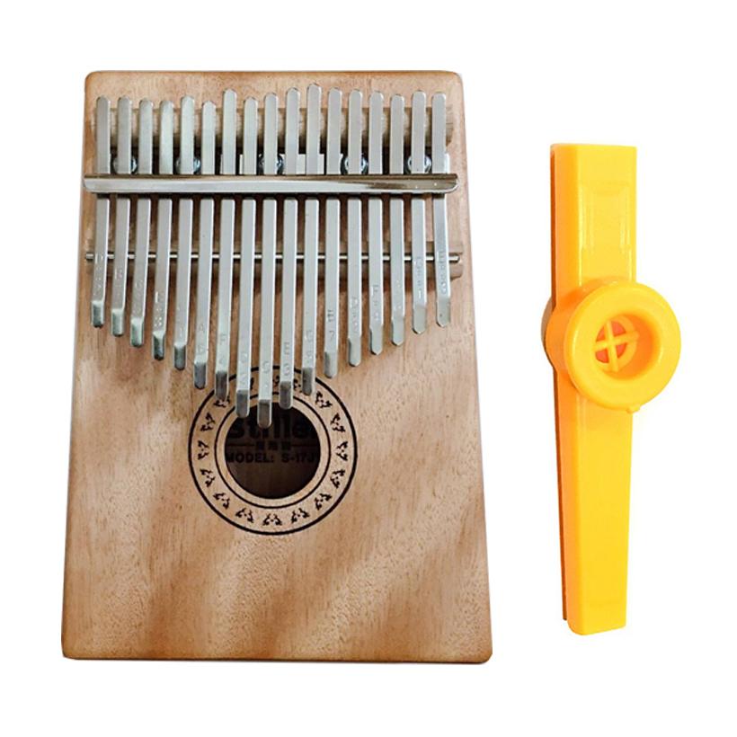 Đàn Kalimba Gỗ Hồng đào 17 phím Tặng Kèm Kèn Kazoo