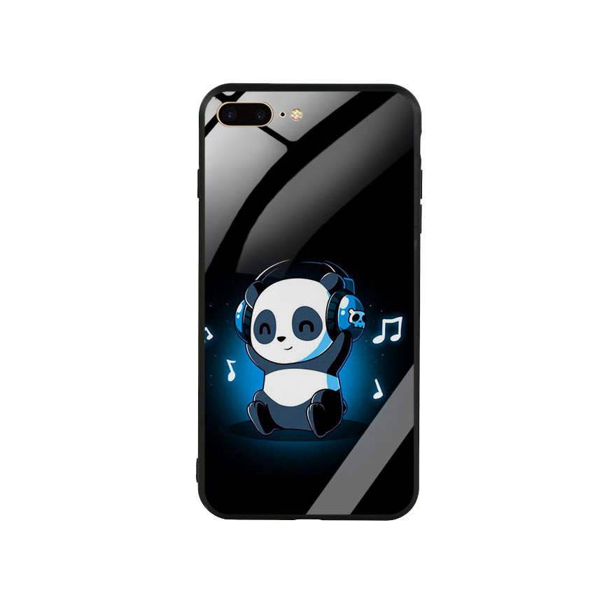 Ốp Lưng Kính Cường Lực cho điện thoại Iphone 7 Plus  8 Plus -  0334 PANDA05