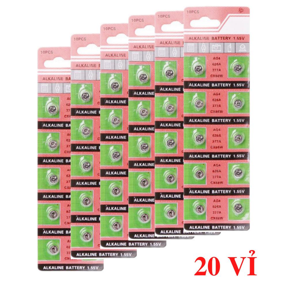 10 vỉ pin đồng hồ phổ thông AG4-626-377A ( 100 viên)