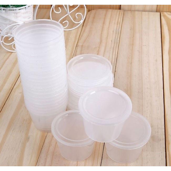 Bộ 30 Hủ Làm Bánh Flan - Sửa Chua - Rau Câu ( Có Nắp )