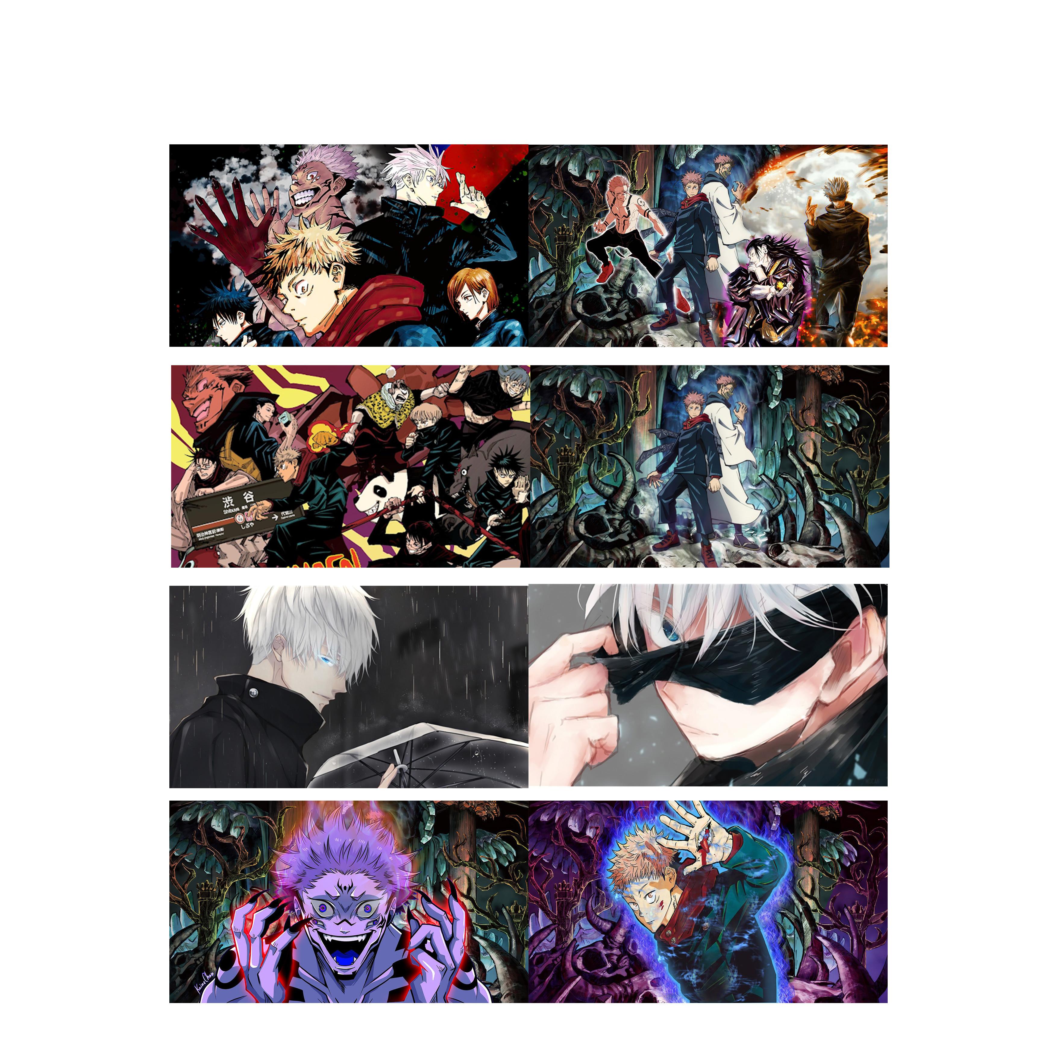 Poster 8 tấm A4 JUJUTSU KAISEN CHÚ THUẬT HỒI CHIẾN anime tranh treo album ảnh in hình đẹp (MẪU GIAO NGẪU NHIÊN)