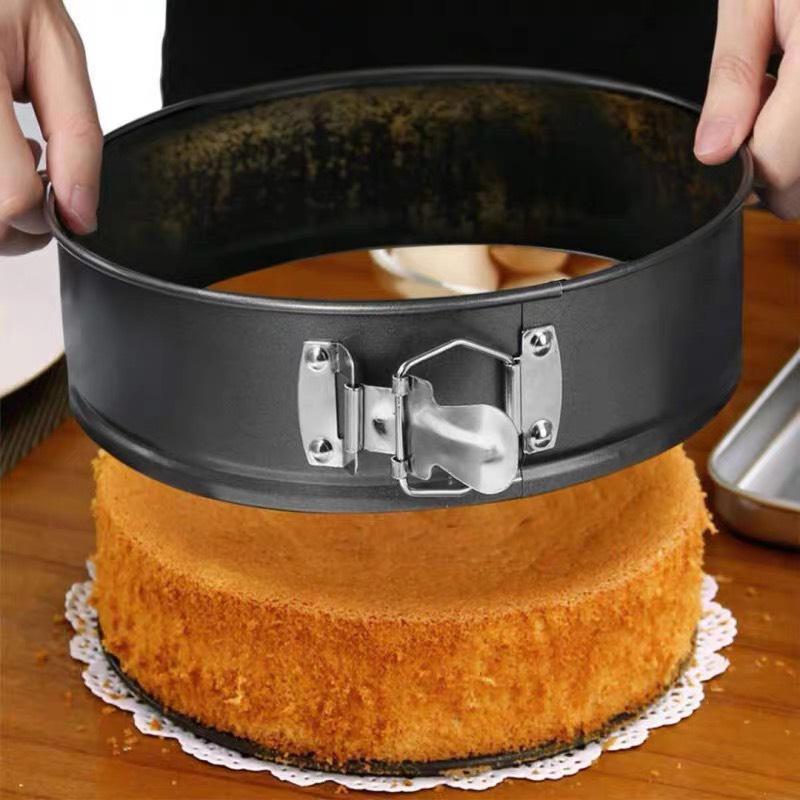 Combo 3 khuôn tròn 18,20,22cm  làm bánh đế rời ,có khóa màu đen