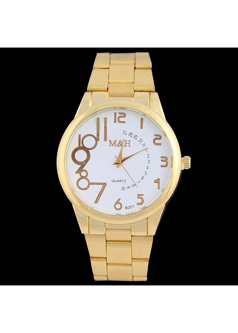 Đồng hồ mặt tròn thời trang nam