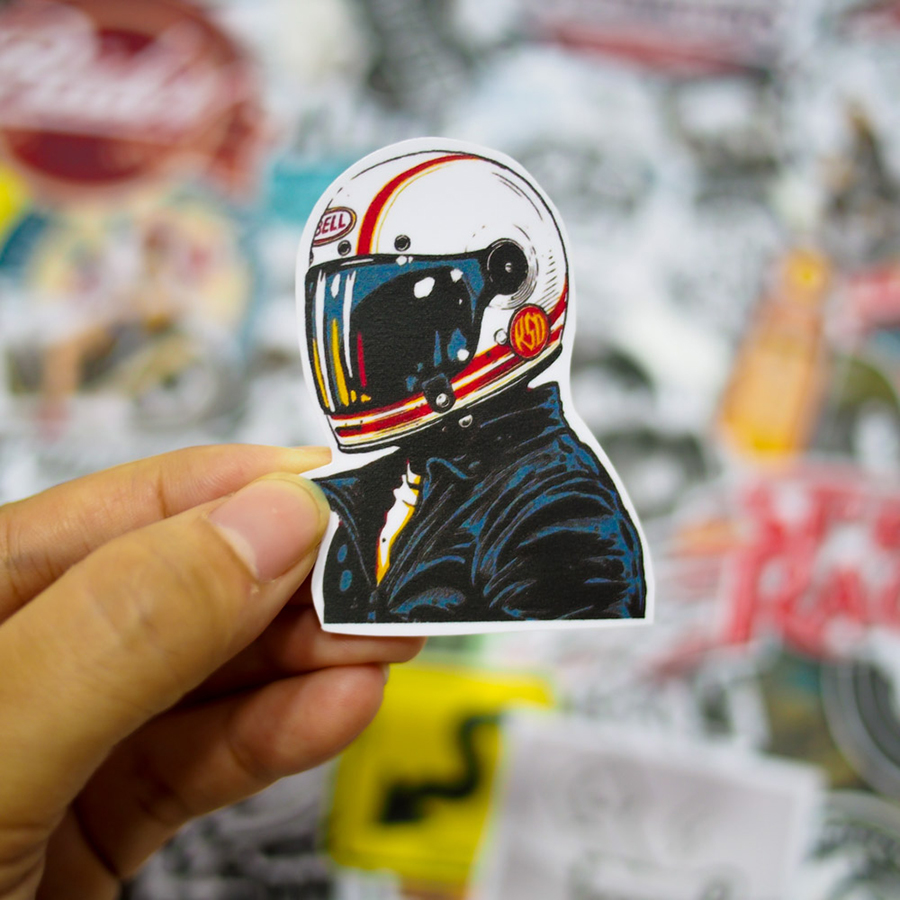 Set 100 Sticker - Cafe Racer