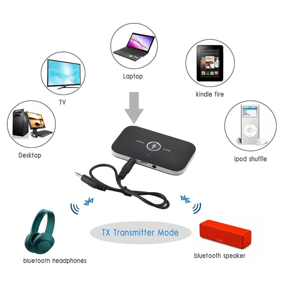 Thiết bị tạo bluetooth cho amply, tivi. Kết nối không dây karaoke tivi với amply âm thanh chất lượng cao Hi-Fi thời lượng pin cao tặng kèm dây cốc sạc