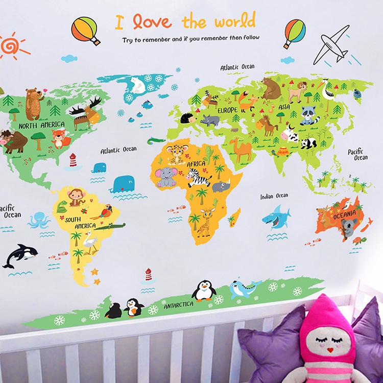 Decal dán tường i love the world