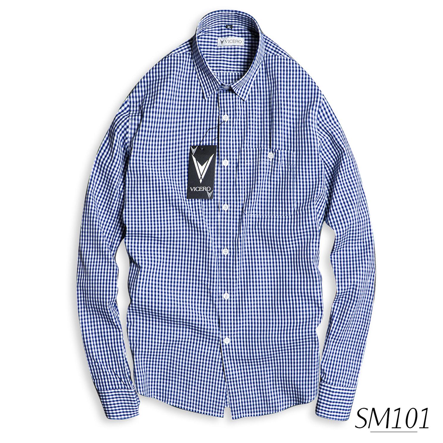 Áo Sơ Mi Nam Kẻ Caro Vải Cotton Thời Trang Vicero