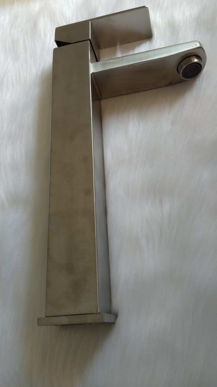 Vòi lavabo nóng lạnh thân vuông bằng inox 304, 2015b
