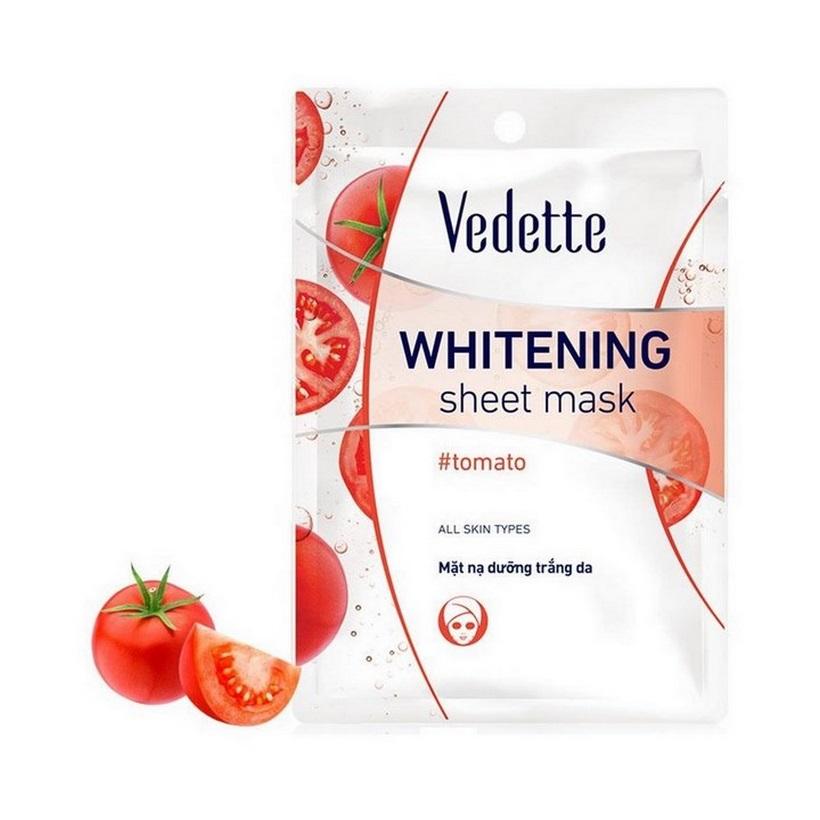 Combo 10 Mặt nạ giấy dưỡng trắng da Cà chua Vedette 22ml