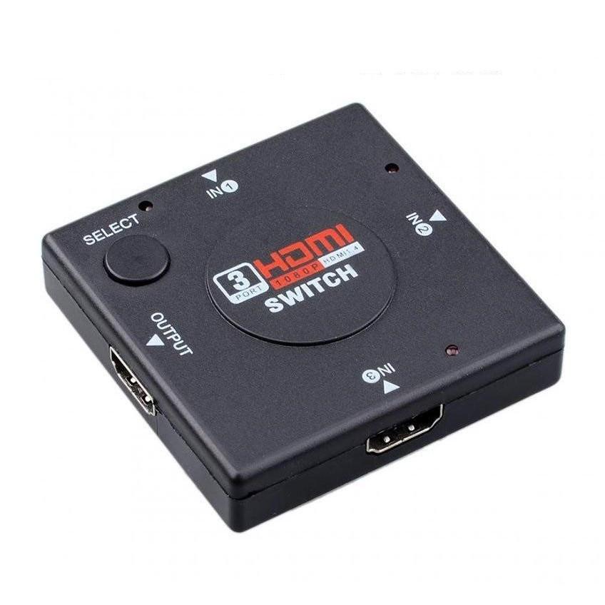 Hub chuyển đổi HN 3 HDMI sang 1 HDMI Hỗ trợ tần số video độ nét cao, chất lượng và định nghĩa của HDTV tần số tỷ lệ giải quyết đạt 1080p
