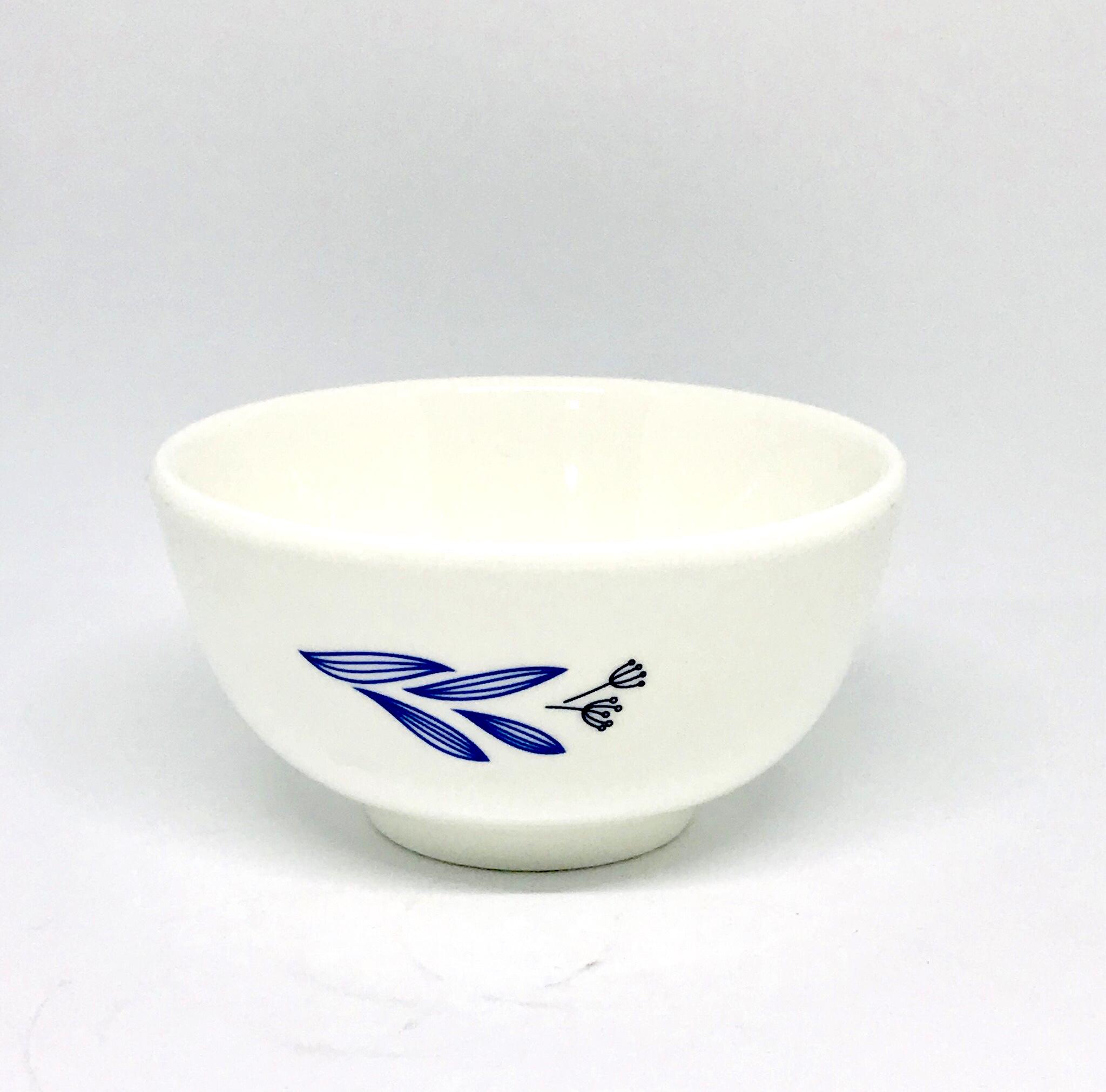 Bộ 10 chén sứ trắng in hình cá cao cấp MS0497