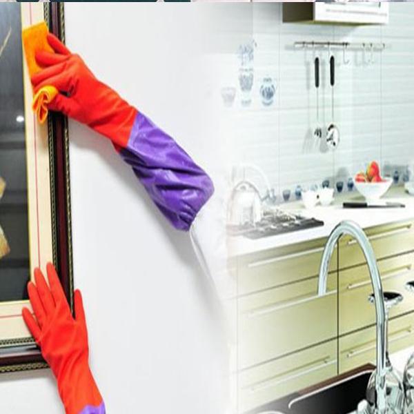 Găng Tay Rửa Bát Cao Su Lót Nỉ - Rửa Bát Giặt Quần Áo Tiện Dụng