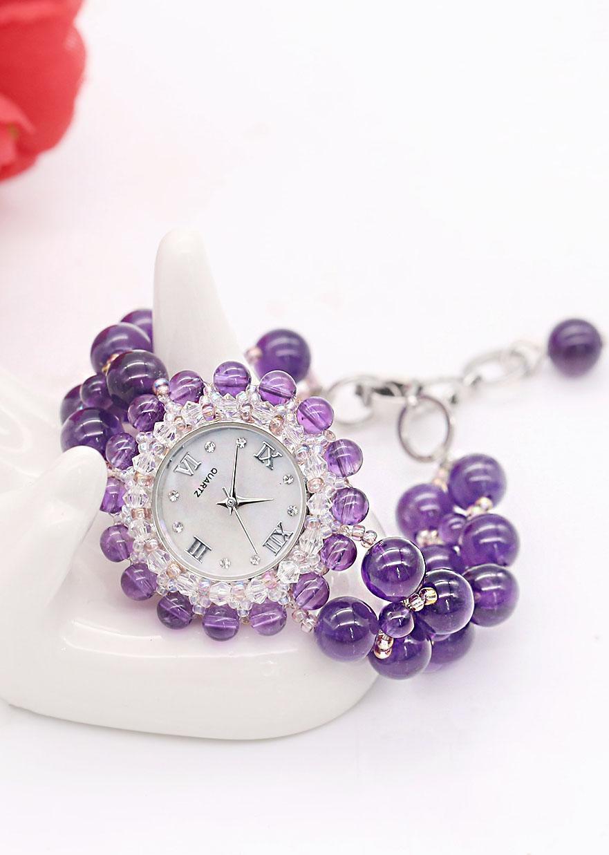 Đồng Hồ Thạch Anh Tím DHN03 Bảo Ngọc Jewelry