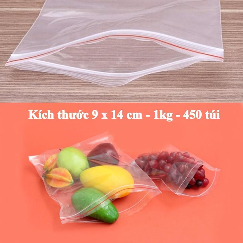 Túi Zipper đựng thực phẩm - size 9 x 14 cm - 1kg khoảng 450 túi