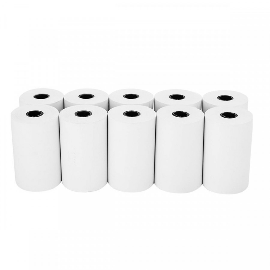 Thùng 100 cuộn giấy in hóa đơn K80 phi 45 bọc bạc cho máy in nhiệt