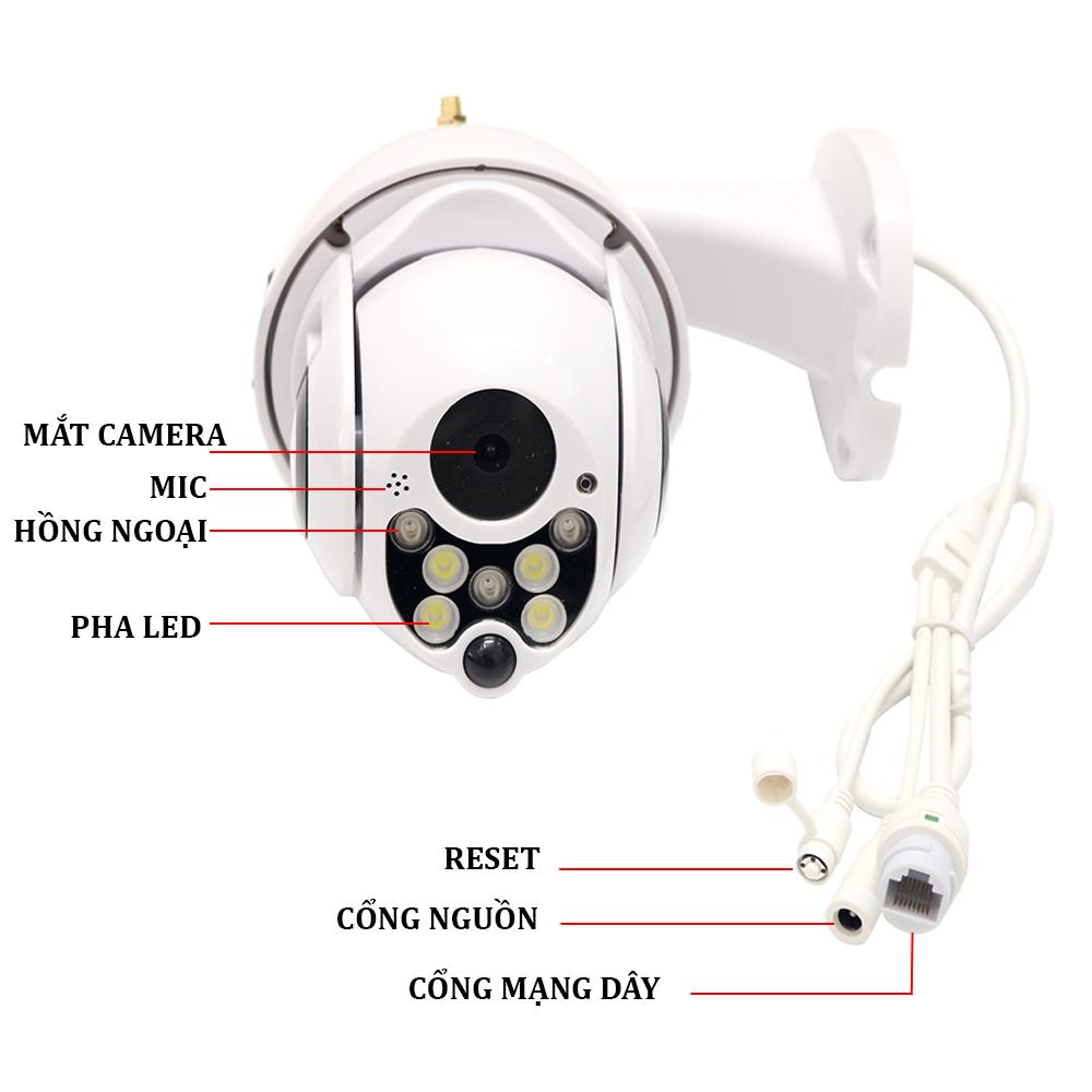 Camera IP Ngoài Trời Yoosee X2000 - Xoay 360 - Hồng Ngoại Quay Đêm - Hàng Chính Hãng