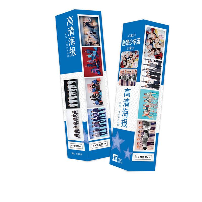 Hộp Poster ảnh nhóm BTS 10 tấm 42x29cm