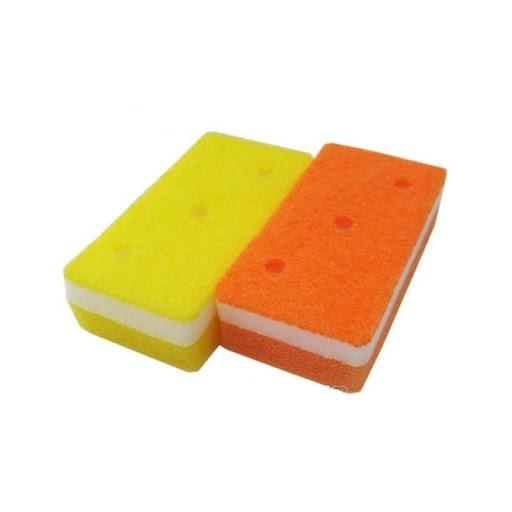Mút rửa chén bát 2 lớp mềm mịn & tạo bọt tốt ( Giao màu ngẫu nhiên) - Hàng nội địa Nhật Bản.