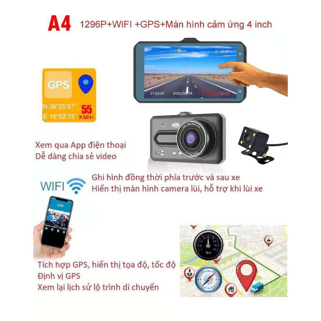 Camera Hành Trình A4 màn hình cảm ứng IPS 1.4'', Hình ảnh HD 1080P