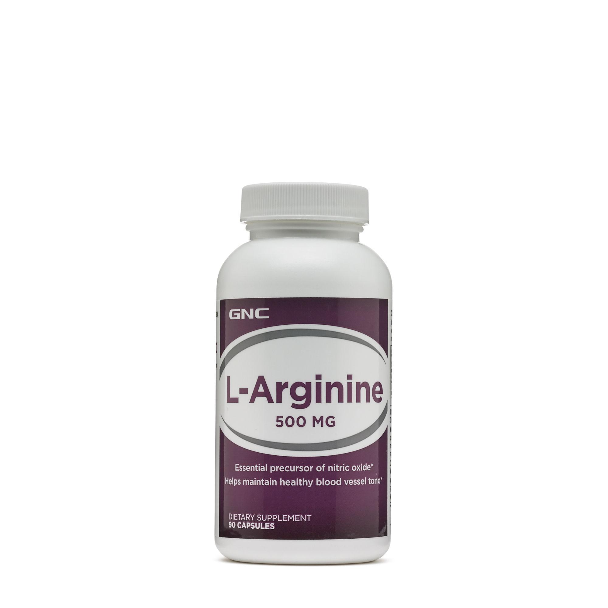 Thực Phẩm Chức Năng Hỗ trợ gan GNC L-Arginine 500MG chai 90 viên