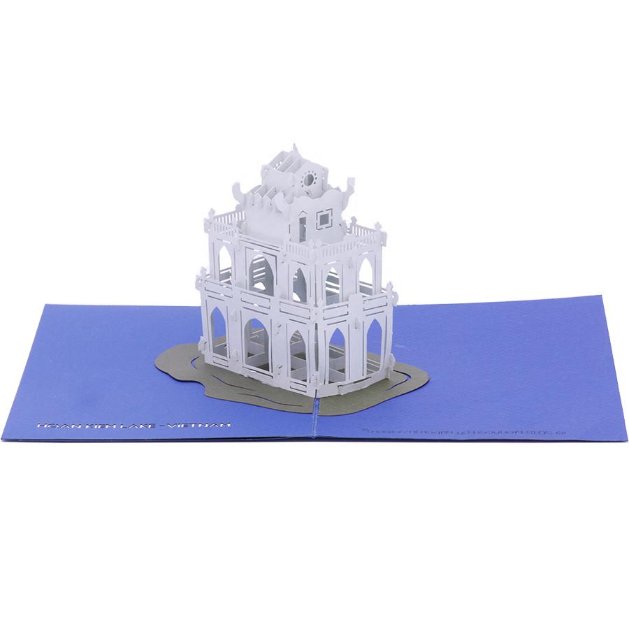 Thiệp Nổi 3D Kiến Trúc Việt Nam Tháp Rùa Hồ Gươm - PNP111