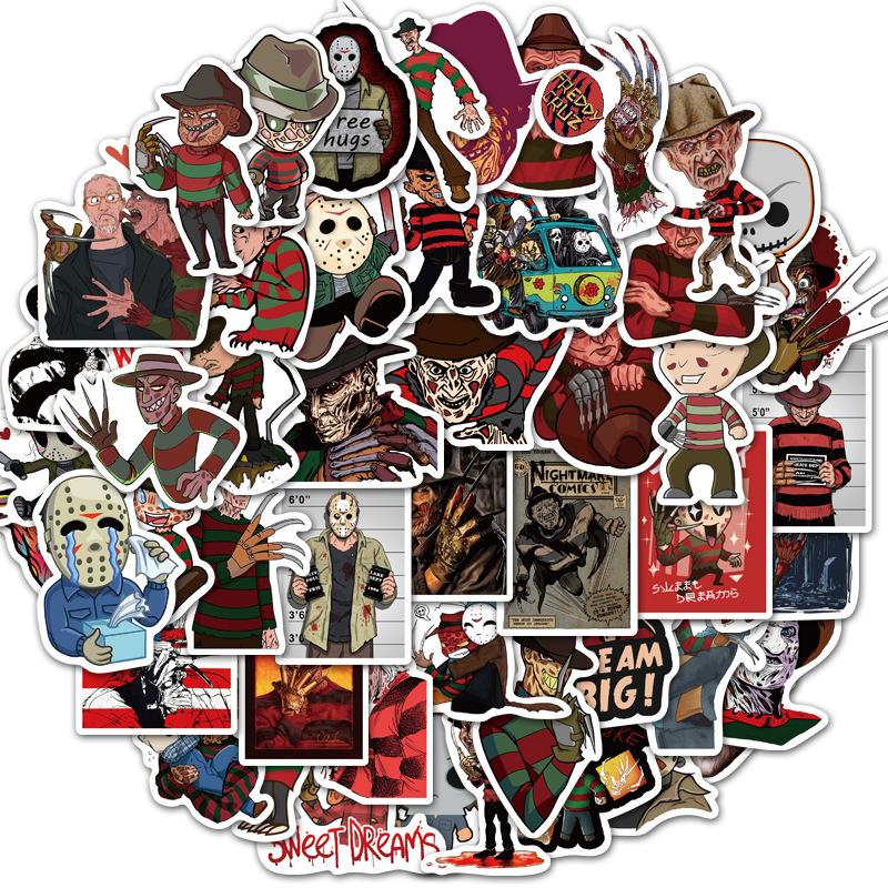 Sticker 50 miếng hình dán Freddy Nightmare