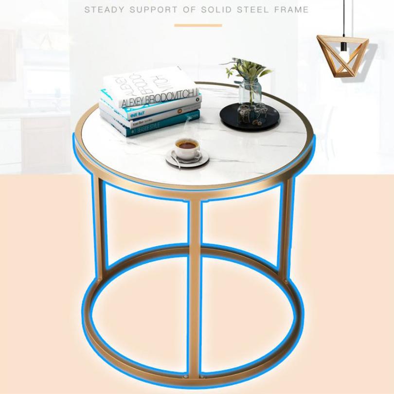 Bàn trà, Bàn cafe, bàn trang trí vân đá mẫu tròn