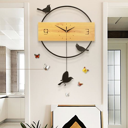 Đồng hồ trang trí treo tường nghệ thuật - DHTTNT2408