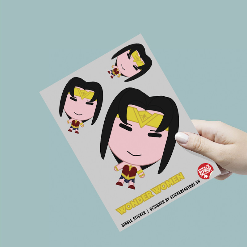Nữ siêu anh hùng - Single Sticker hình dán lẻ