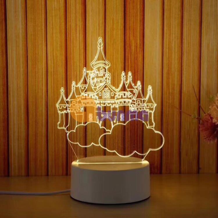 Đèn Ngủ 3d , đèn trang trí, quà tặng sinh nhật độc đáo hình lâu đài