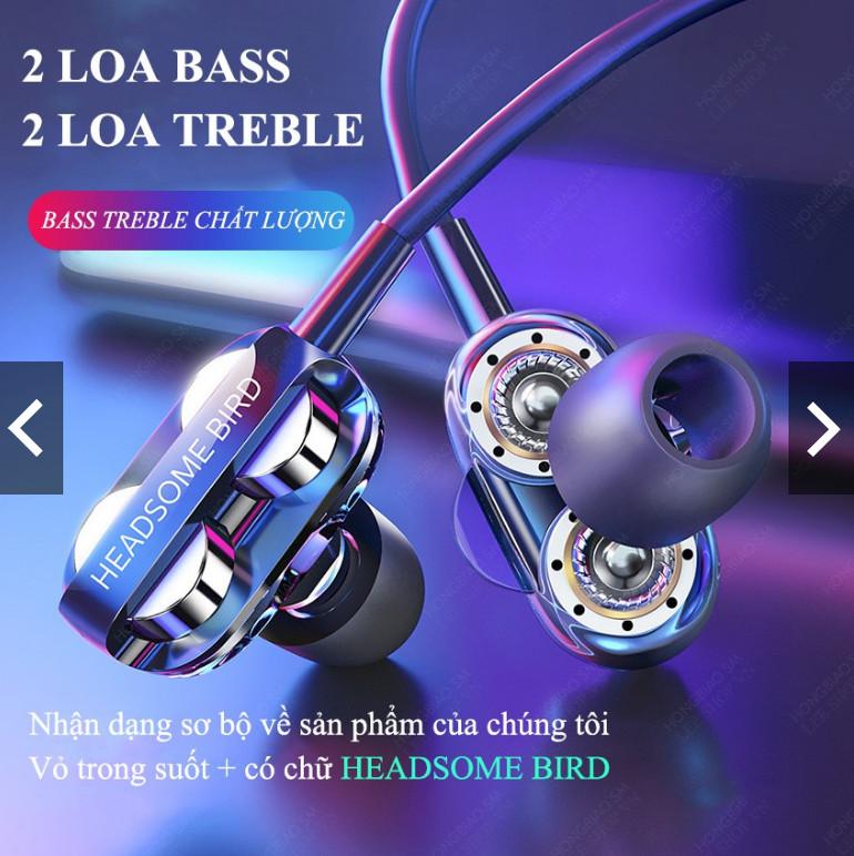 TAI NGHE NHÉT TAI HONGBIAO SM siêu bass 4 loa (hàng chính hãng)
