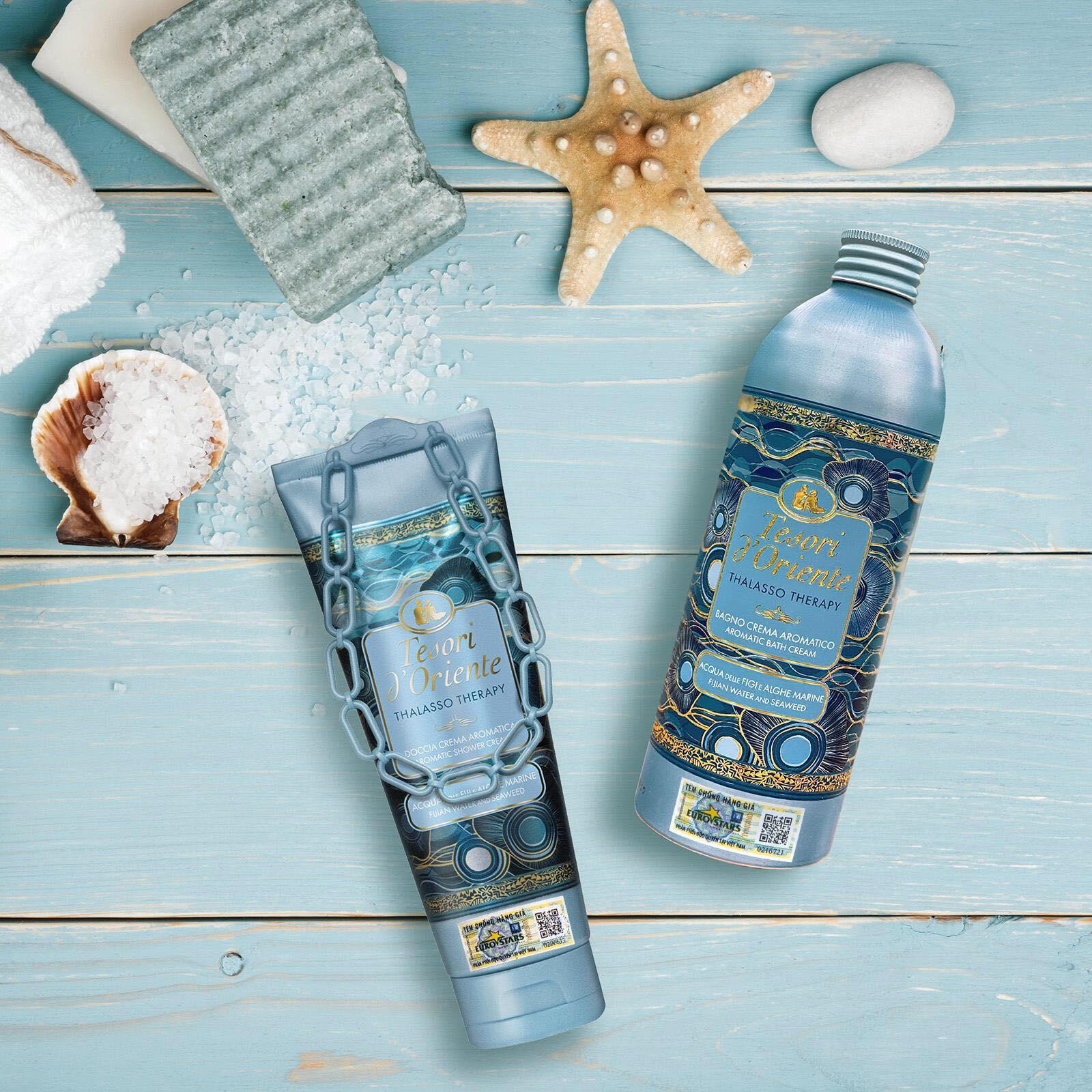 Sữa tắm nước hoa Tesori d'Oriente Thalasso Therapy 250ml kèm móc khóa