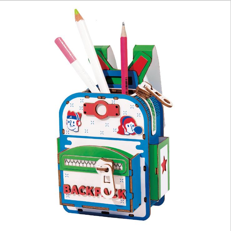 Đồ chơi lắp ráp gỗ 3D Mô hình Hộp bút Backpacker TG12