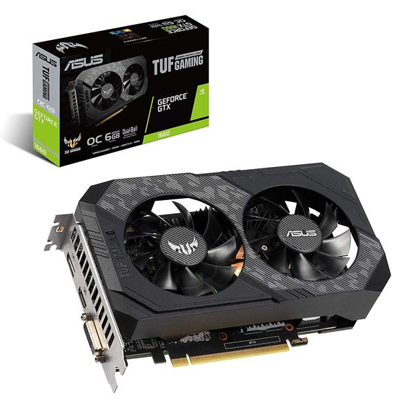Card Màn Hình Gaming ASUS TUF-GTX1660-O6G-GAMING - Hàng Chính Hãng