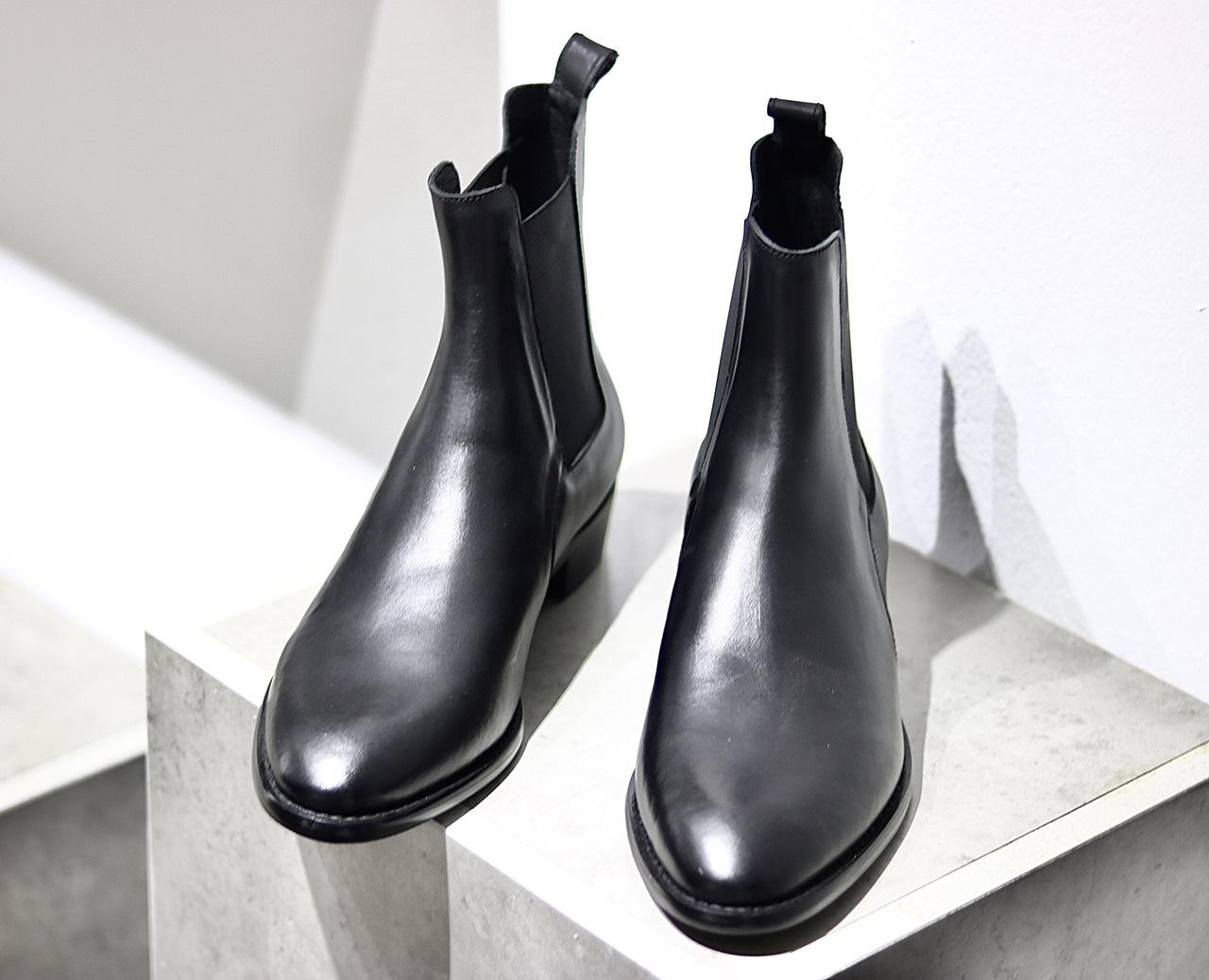 Giày Nam Chelsea Boots Da Bò Đế Gỗ Kiểu Dáng Đường Phố BẢO Dưỡng 12 THÁNG Tặng Phụ Kiện Hộp + Lót