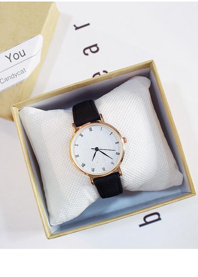 Đồng hồ thời trang nữ dây da mặt số la mã cổ điển cực đẹp ZO22