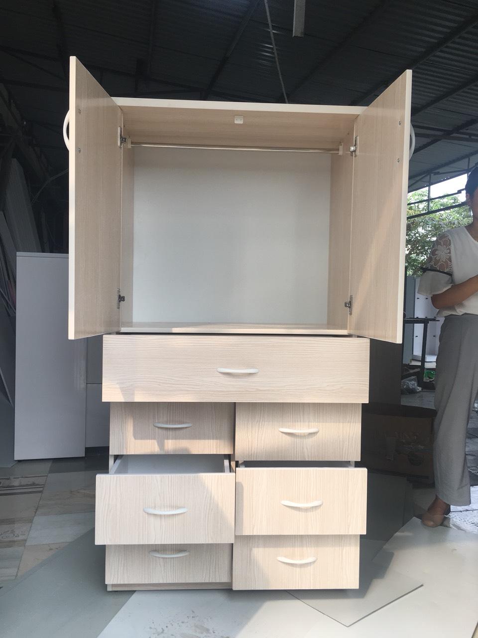 Tủ trẻ em hai cánh 7 ngăn kéo cao cấp V27