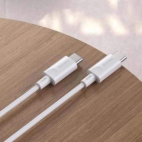 Cáp sạc nhanh Baseus Xiaobai series Type-c to Type-c siêu bền 100W (20V/5A, Quick Charging & Sync Data TPE Cable ) dài 1,5m - Hàng chính hãng