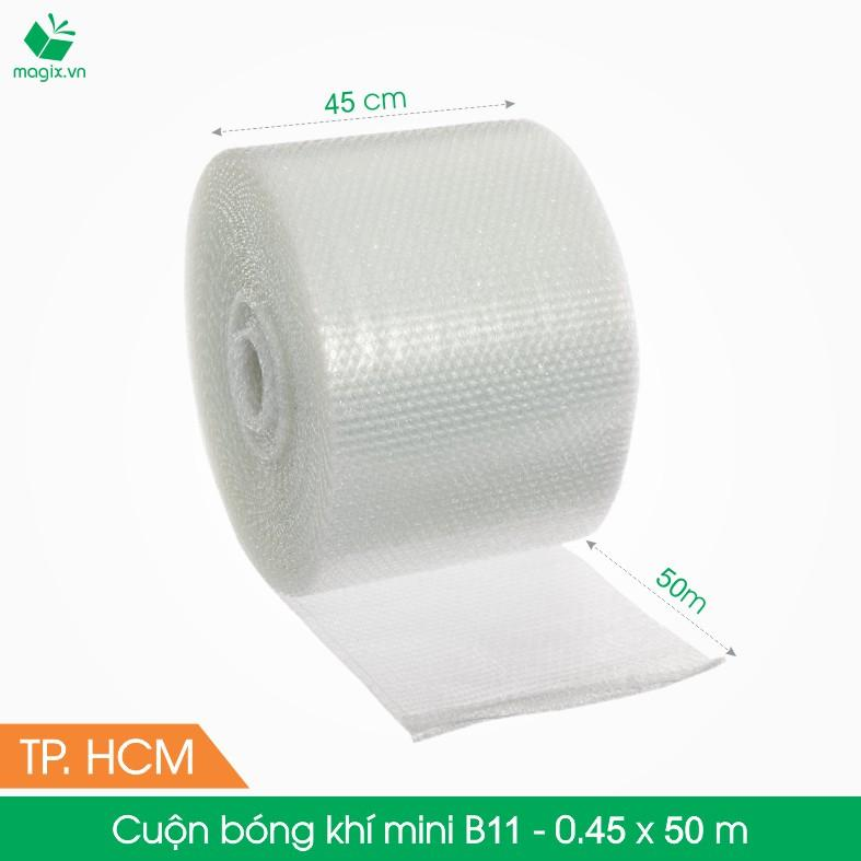 B11 - 0,45x50 (m) - Cuộn Bong Bóng Khí - Màng xốp hơi - Xốp nổ - gói hàng bọc hàng