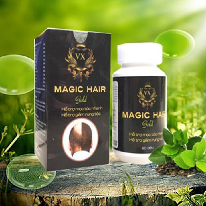 [Bộ 2 sản phẩm] giúp Mọc tóc nhanh chống hói đầu, ngăn rụng tóc sau sinh, ngăn tóc bạc sớm, nuôi dưỡng tóc chắc khỏe, suôn mượt và bóng đẹp, giảm khô, xơ, gãy rụng tóc - Magic Hair