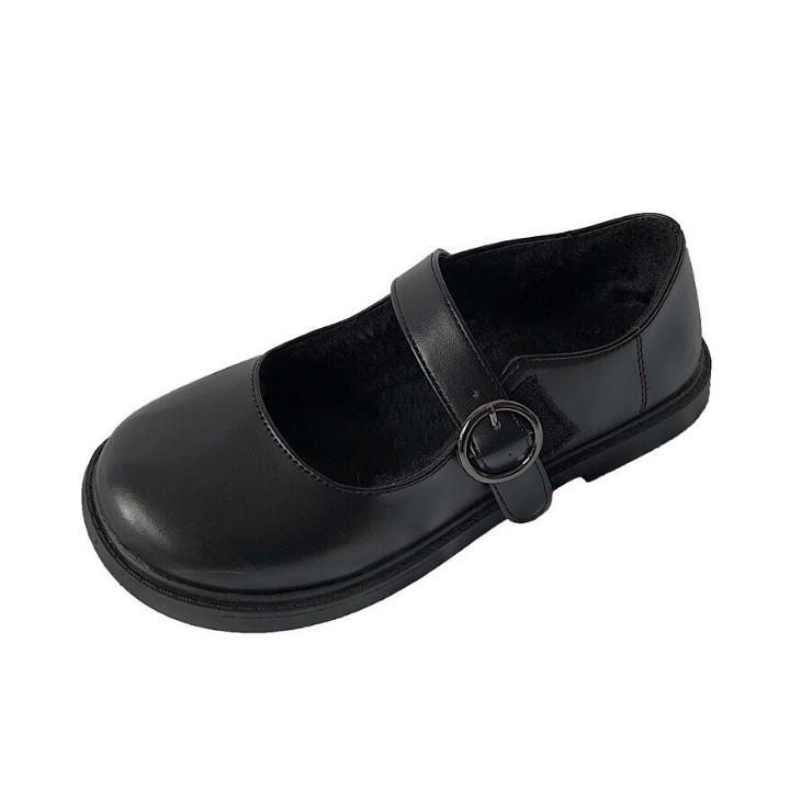 Giày búp bê nữ T15 ulzzang có quai cài khuy Lolita